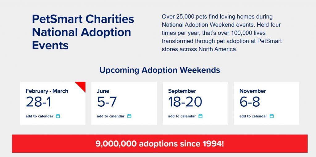 PetSmart Charities National Adoption Events
